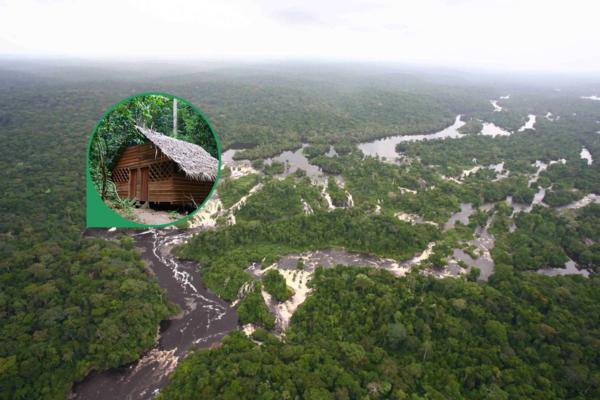 Panoramica dall'alto del fiume Ivindo
