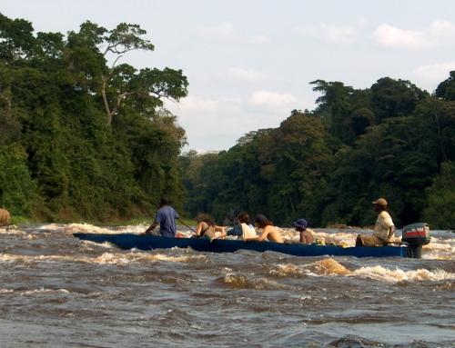 Traversata sul fiume Ivindo