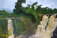 Panoramica in alto delle cascate Kongou